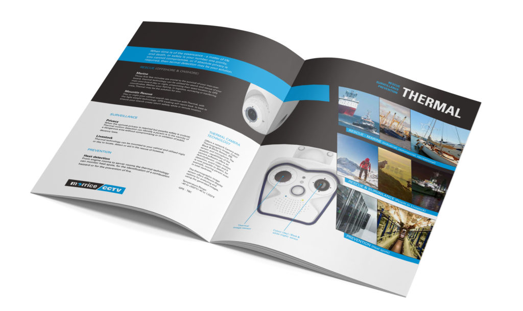 Morrice CCTV Brochure, part of the Change for Growth Tactical Marketing Plan